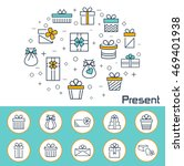 present banner in flat style.... | Shutterstock . vector #469401938