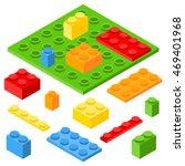 isometric plastic constructor... | Shutterstock . vector #469401968