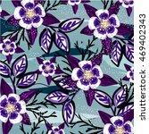 flower pattern   Shutterstock .eps vector #469402343