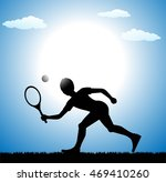 silhouette of tennis player | Shutterstock .eps vector #469410260