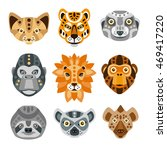 african animals stylized... | Shutterstock .eps vector #469417220