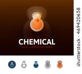 chemical color icon  vector...