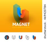 magnet color icon  vector...