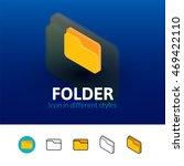 folder color icon  vector...