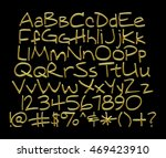3d gold full alphabet with... | Shutterstock . vector #469423910