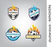 soccer logo design set vector... | Shutterstock .eps vector #469434596