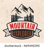 vector adventure vintage logo... | Shutterstock .eps vector #469440290