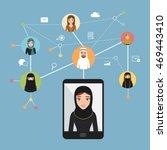 social network communication in ... | Shutterstock .eps vector #469443410