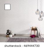 modern brick wall interior... | Shutterstock . vector #469444730