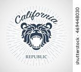vintage california republic... | Shutterstock .eps vector #469448030