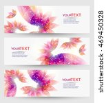 set of three banners  abstract... | Shutterstock .eps vector #469450328