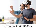 positive colleagues testing...   Shutterstock . vector #469452314