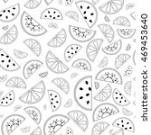 cute seamless pattern with... | Shutterstock .eps vector #469453640