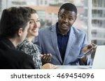 business man leading a staff...   Shutterstock . vector #469454096