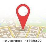 abstract generic city map with... | Shutterstock . vector #469456670