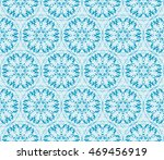 abstract flowers. blue.... | Shutterstock .eps vector #469456919