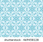 abstract flowers. blue.... | Shutterstock .eps vector #469458128