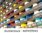 colorful building. pattern... | Shutterstock . vector #469459043