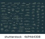 vintage decor elements and... | Shutterstock . vector #469464308