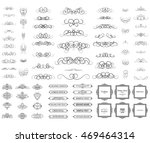 vintage set exclusive borders... | Shutterstock . vector #469464314