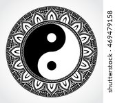 yin yang symbol with ornamental ... | Shutterstock .eps vector #469479158