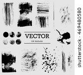 set of vector ink grunge... | Shutterstock .eps vector #469480580