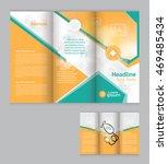 trifold medical brochure flyer... | Shutterstock .eps vector #469485434