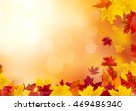 autumn leaves on a sunny... | Shutterstock . vector #469486340