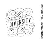 ornate calligraphic logo | Shutterstock .eps vector #469486850