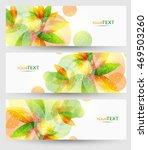 abstract vector eps10 headers... | Shutterstock .eps vector #469503260