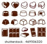 set of chocolate icons. sweet... | Shutterstock .eps vector #469506320