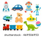 set toys for boys and girls.... | Shutterstock .eps vector #469506953
