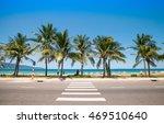 a sidewalk  zebra crossing ... | Shutterstock . vector #469510640