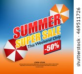 vector summer sale poster with... | Shutterstock .eps vector #469511726
