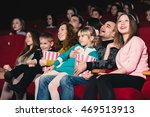 happy family in the movie | Shutterstock . vector #469513913