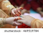 malay wedding couple putting a... | Shutterstock . vector #469519784