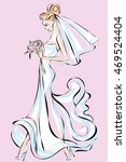 beautiful bride in wedding... | Shutterstock .eps vector #469524404