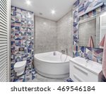 interior bathroom with tiles in ... | Shutterstock . vector #469546184
