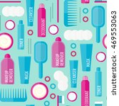 vector beauty products seamless ... | Shutterstock .eps vector #469553063