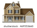 countryside private house ... | Shutterstock .eps vector #469553660
