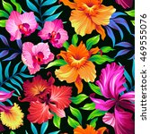 seamless exotic pattern with... | Shutterstock .eps vector #469555076