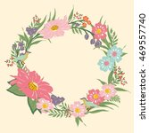 floral frame with border for... | Shutterstock .eps vector #469557740