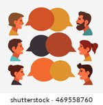 group of happy smiling young... | Shutterstock .eps vector #469558760