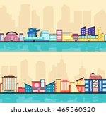 set of public buildings. modern ... | Shutterstock .eps vector #469560320