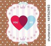 happy valentine day card vector ... | Shutterstock .eps vector #469563983