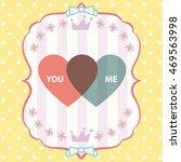 happy valentine day card vector ... | Shutterstock .eps vector #469563998