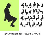 silhouette of sitting people ... | Shutterstock .eps vector #469567976
