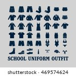 school uniform outfit vector...