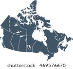 map of canada | Shutterstock .eps vector #469576670