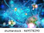 neurons and nervous system.  3d ... | Shutterstock . vector #469578290